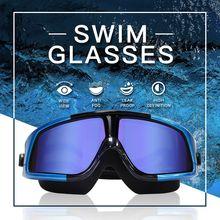 Dmar Electroplat Zwembril Anti-Fog Zwemmen Duiken Brillen Professionele Waterdichte Siliconen Bril