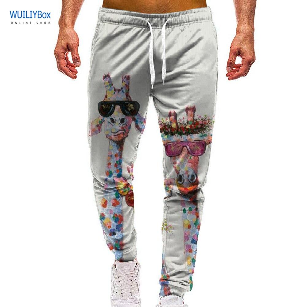 3D Pattern Sports Giraffe Print Pants Casual Deer Graphic Trousers Men/Women Animal Sweatpants with