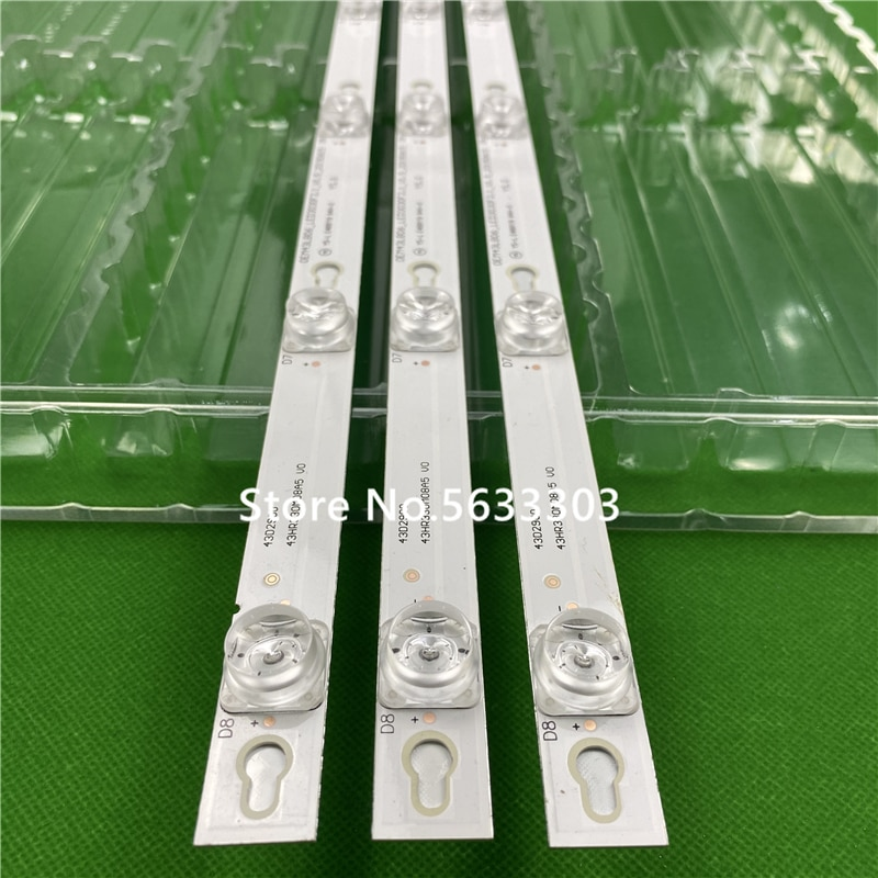 Retroiluminación LED TCL D43A810 L43E5800A-UD OEM43LB06 LED3030F2.1 V1.2 4C-LB4308-ZM02J