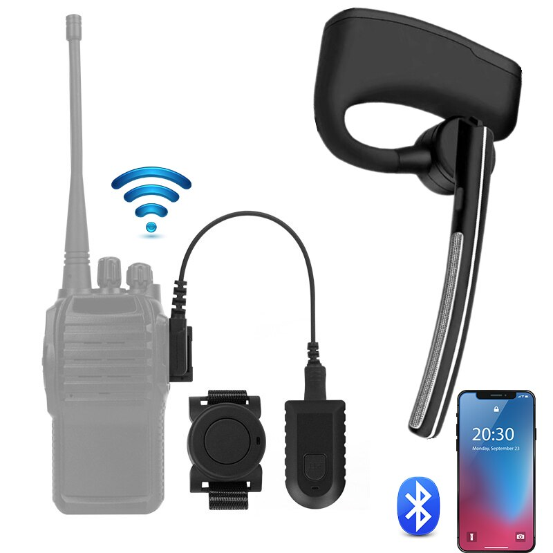 Baofeng Wireless Bluetooth Headset Walkie Talkie Earphone PTT Two Way Radio M Type Headphone With Mic For UV5R UV82 bf888s Phone