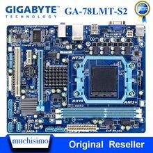 GIGABYTE GA-78LMT-S2 carte mère de bureau 760G Socket AM3/AM3 + DDR3 16G Phenom II/Athlon II Micro ATX UEFI BIOS Original utilisé