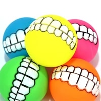 dog chew toys rubber ball pet squeak toys tooth cleaning chew toy puppy training interactive pet supplies bite resistant