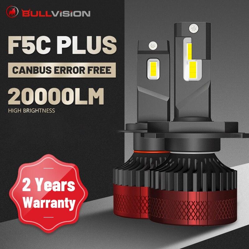 H1 الصمام العلوي F5 F3 20000LM LED H7 9012 HIR2 H11 H8 9005 9006 HB3 HB4 في Canbus خطأ شحن 6000K CSP رقائق STG منخفضة شعاع ل عدسة
