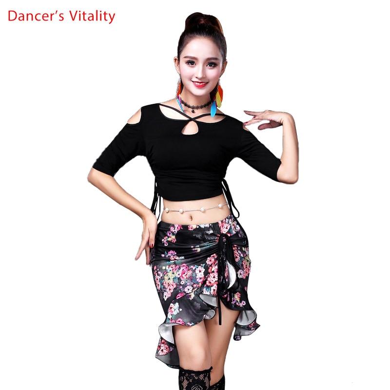 Взрослый костюм для танца живота, костюм для восточных танцев, футболка, топ, юбка для женщин, Восточная одежда для танца живота, индийская о...