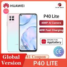 Version globale Huawei P40 lite 6GB 128GB Smartphone 48MP AI caméras 6.4 FHD écran Kirin 810 Octa Core 40W QC