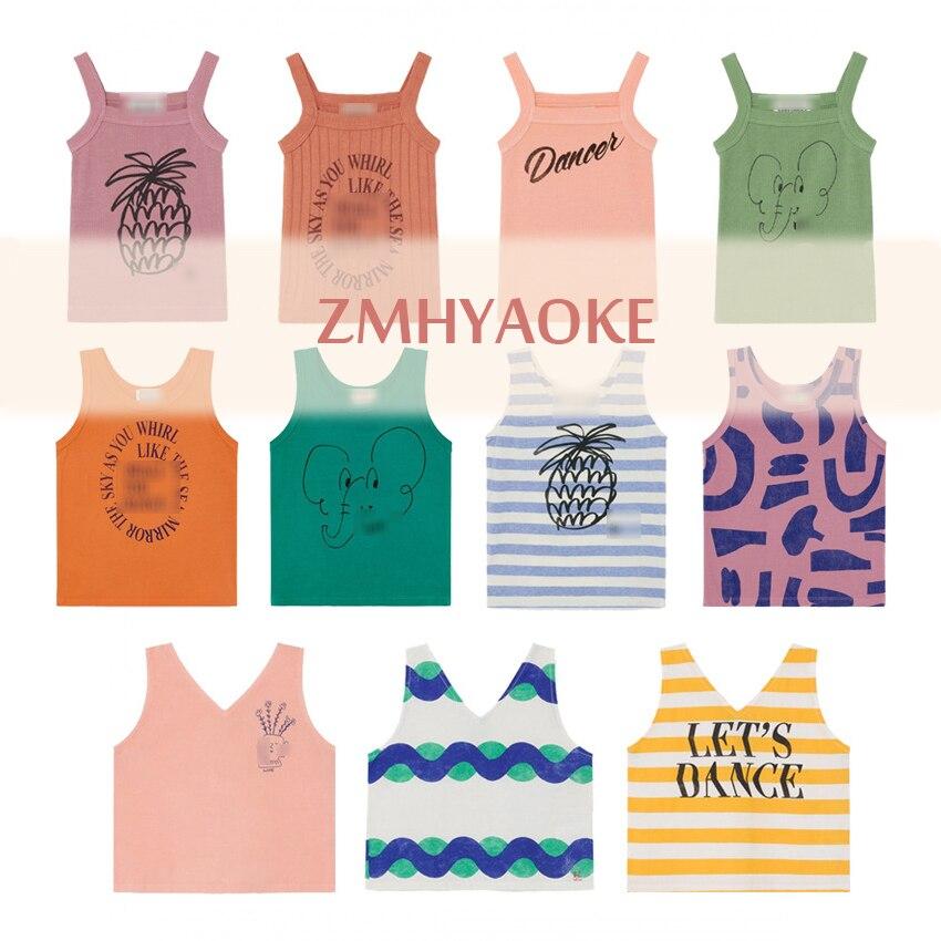 ZMHYAOKE-Bobo Ch * 2020 verano bebé niñas ropa de moda de playa Camiseta para los niños el día de Acción de Gracias blusa chicas tops