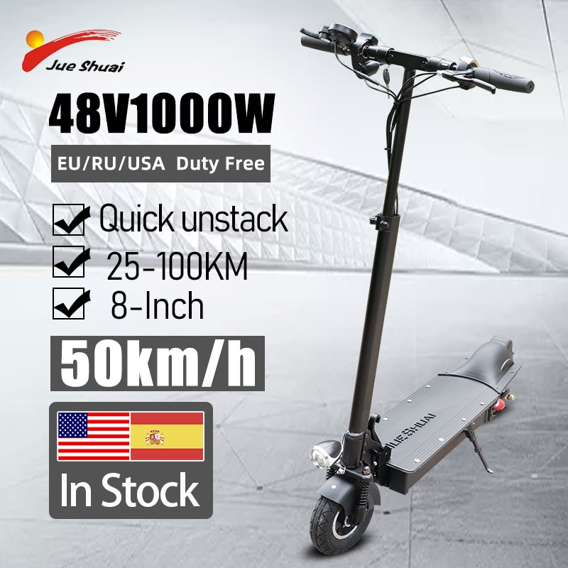 Jueshuai سكوتر كهربائي 1000 واط موتور كهربائي سكيت 60km/ساعة 18AH بطارية 8 بوصة الإطارات طوي patinete electrico ألحو