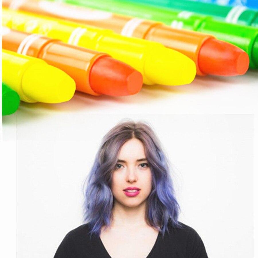 7 farben kredk Temporäre Lebendige Glitter Instant Streifen Haar Farbe färbung stil styling pflege Dye chalk schönheit produkte