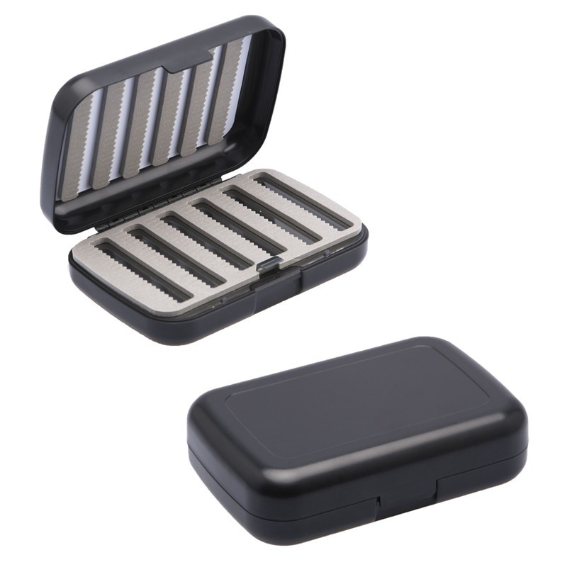 Outdoor Thicken Waterproof Fly Fishing Box With Slit Foam Fishing Lure Hook Bait Tough And Strong Fly  Fishing Tackle Box