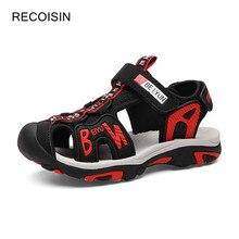 ريكويسين 2020 الصيف صنادل أطفال جودة عالية الفتيان Baech السببية الصنادل أحذية الأطفال لصبي النعال Sandalias الأحذية