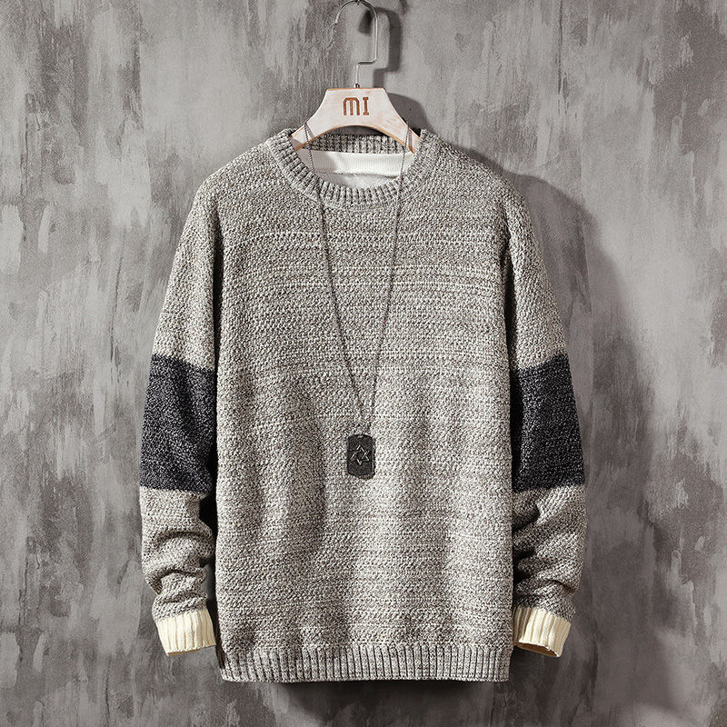 fashion Japanese casual loose sweater men's style pullover men clothes Free shipping