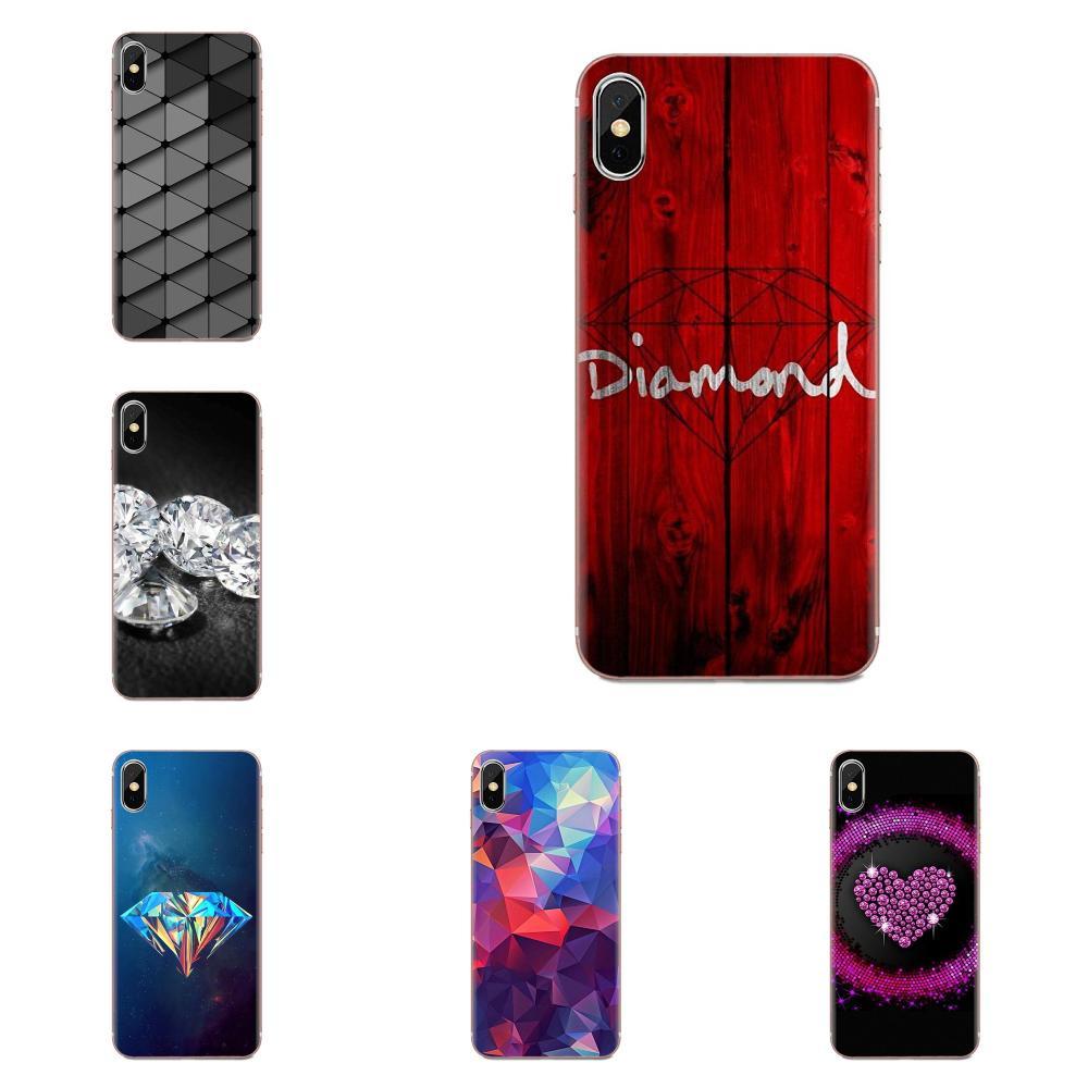 TPU Phone Case Skin Cover 3d Diamonds Whatsapp Wallpaper For LG K50 Q6 Q7 Q8 Q60 X Power 2 3 Nexus 5 5X V10 V20 V30 V40 Q Stylus