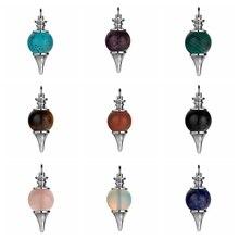 ASHMITA Natürliche Stein Kugel Pendel 18MM SCrystal Bälle Chakra Anhänger für DIY Herstellung Von Schmuck Halskette Armband Keychain
