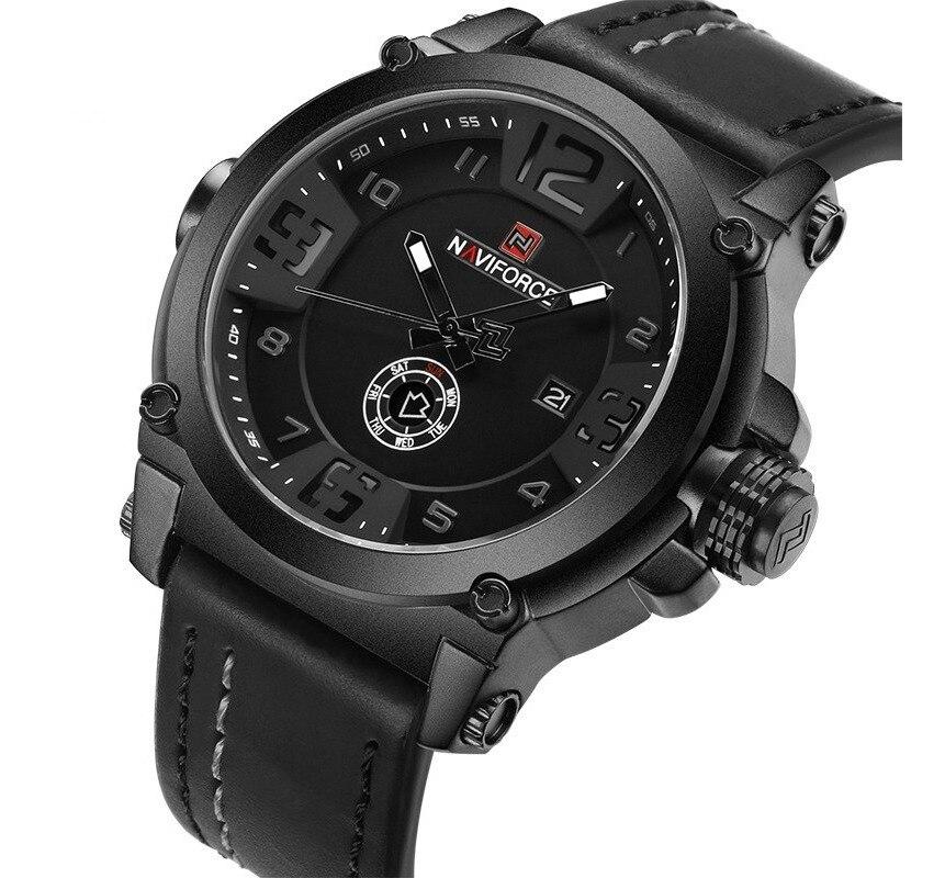 Relógio Naviforce Militar Masculino Esportivo Pulseira Couro 9099