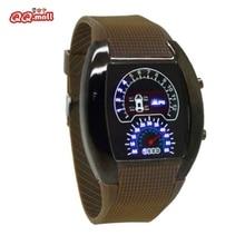 Speedometer Men's Fashion Wrist Watches LED Light Car Sports Watch Digital Watch Instrument Panel De