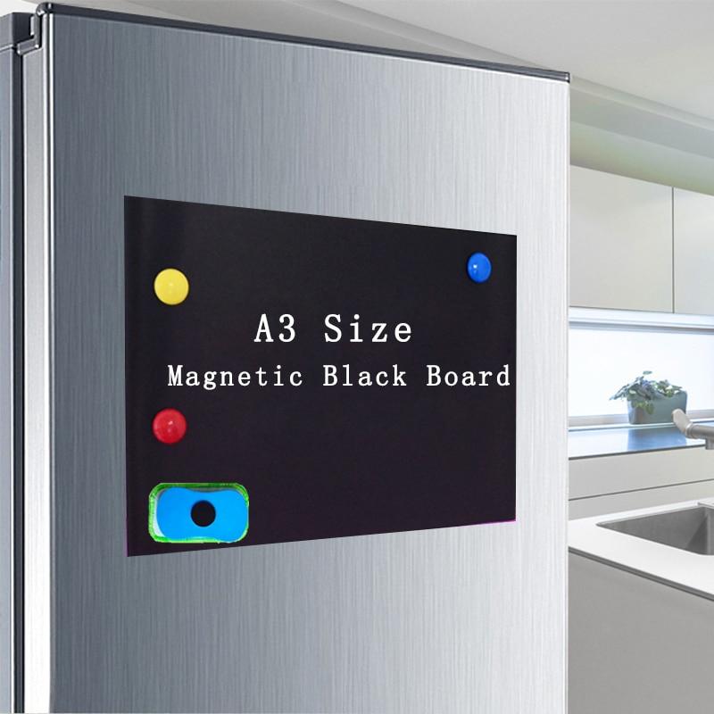 Мягкая доска для письма сообщения список дел магнитная доска ластик для стен детский маркер для кухни холодильника черная наклейка