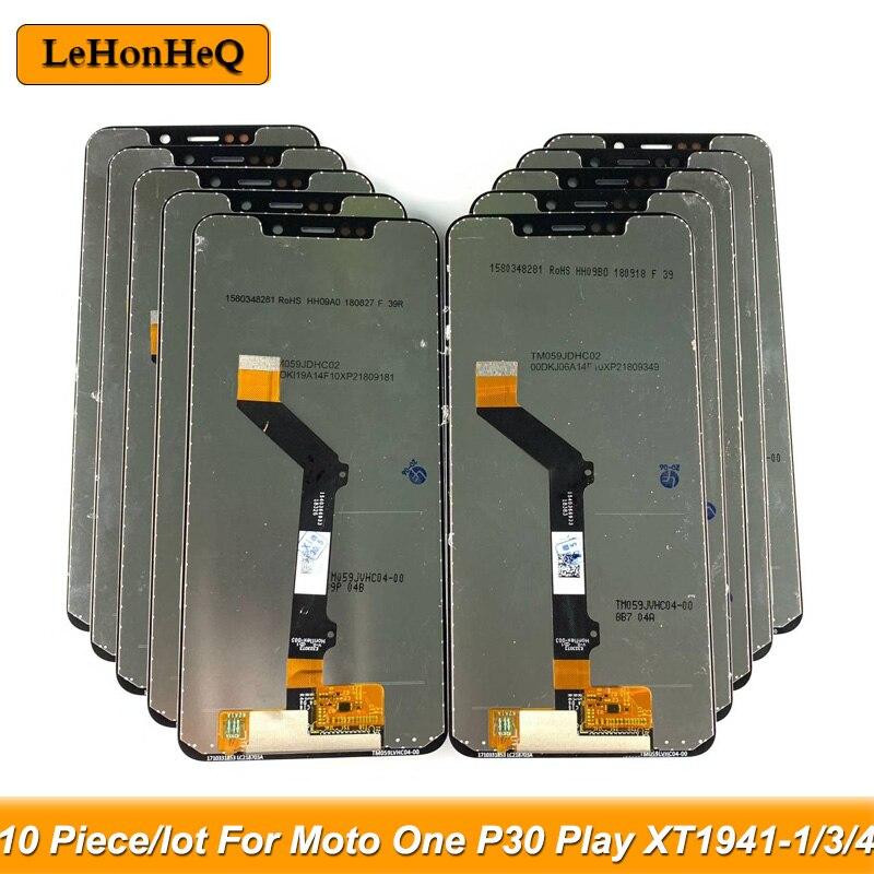 Prueba 10 unid/lote LCD para Motorola Moto uno LCD para MOTO P30 jugar XT1941-1/3/4 pantalla LCD Digitalizador de pantalla táctil Aseembly