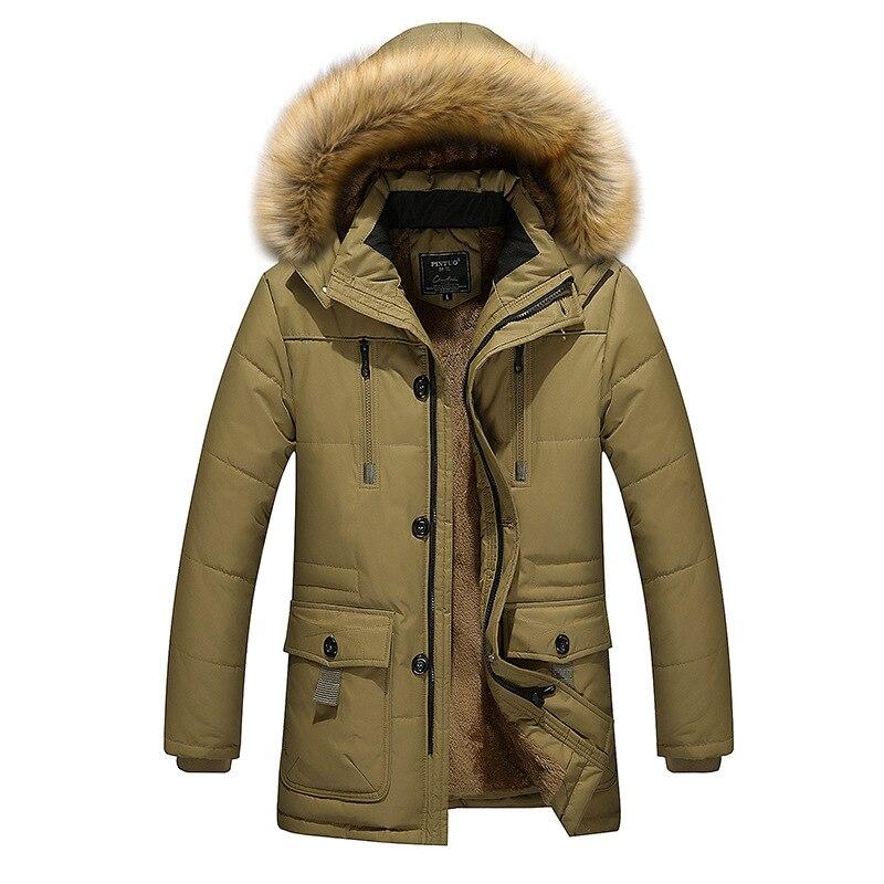 Мужская длинная хлопковая куртка, зимняя мужская большая хлопковая куртка, Мужская куртка с воротником, мужской пуховик, хлопковый костюм, ...