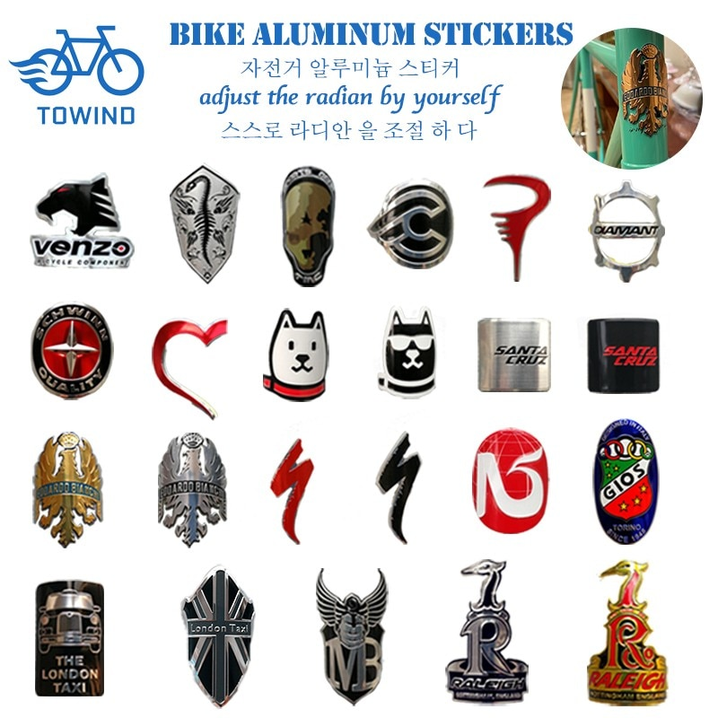 Значок на головку велосипеда, Алюминиевые наклейки для горного велосипеда, BMX, складные велосипедные аксессуары для паровой езды на велосип...