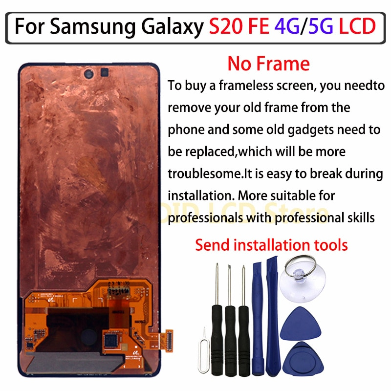 The new best work 100% suitable for Samsung S20 FE LCD 5G display SM G780F touch screen digitizer assembly Samsung S20 fan versi enlarge