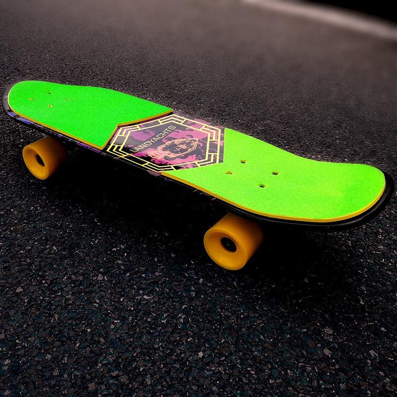 Уличный Скейтборд для взрослых для начинающих, скейтборд для серфинга, скейтборд в форме клена, уличная Чистка, настольная одежда, Спорт на ...