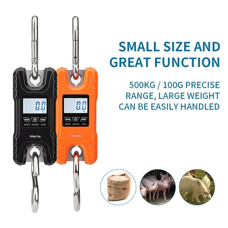 Báscula electrónica portátil para caza de WH-C500, minibáscula Digital para grúa sin batería con apagado automático después de 120s sin operación