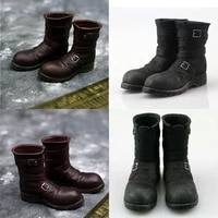 vf003 16 male black brown combat boots soldiers hollow mid high shoes for 12 action figure body