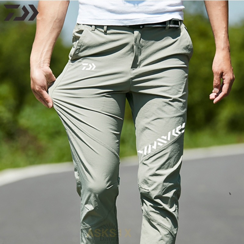 Spring Summer Fishing Pants Thin Anti-sweat Elastic Fishing Clothes Men's Breathable Quick Dry Hikin