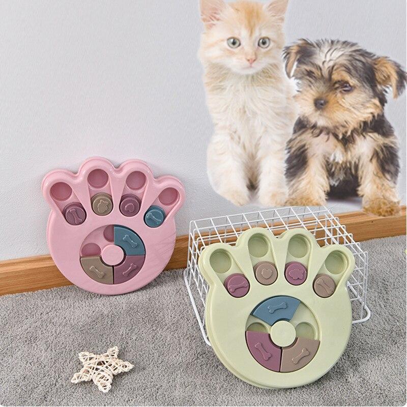 Entrenamiento de mascotas Puzzle para perros, Bol de comida lenta con fuga, comida, premio, juego para perros, tablero de discos, divertido, para morder, perros, juguetes interactivos