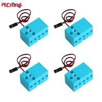 4pcs 0 7kg 360 degree continuous rotation motor double out shaft large torque blue red for lego microbit raspberry pi
