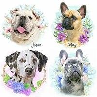 MTEN     peinture diamant 5D pour chien  broderie complete danimaux  perceuses carrees ou rondes  mosaique  decoration dinterieur  cadeau  bricolage