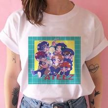 ATEEZ Male Group Vintage Harajuku Korean Style T Shirt Aesthetic Clothes Summer Women Short Sleeve Kawaii E Girl Gothic Top