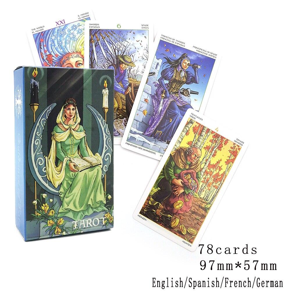 Испанский Таро, Французский Таро, немецкий Таро, английский Таро, лаконичное гадания, игра с ораклом Fate, колесо года, карты Таро, колода