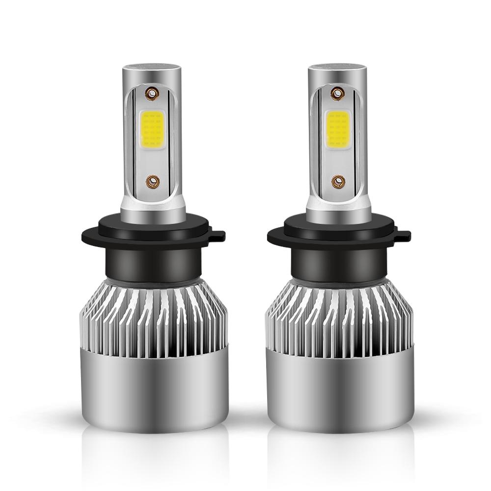 6500 k 8000lm/par s2 carro farol lâmpadas led cabeça luz h1 h3 h27 h11 hb3 hb5 880 9005 9006 hb1 12 v conduziu a lâmpada cob luz automática