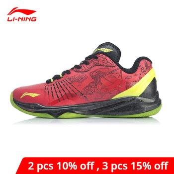 Мужская обувь для бадминтона Li-Ning профессиональная обувь для соревнований по бадминтону с подкладкой li ning спортивная обувь AYAP013