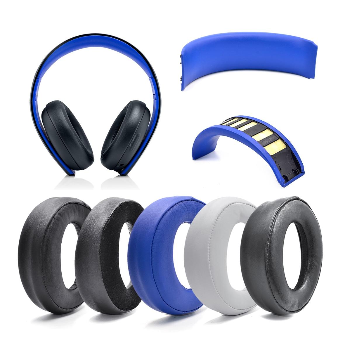 Almohadillas para los oídos, diadema de cojín, almohadillas de piel de oveja para Sony PlayStation PS3 PS4 PS oro inalámbrico CECHYA-0083 auriculares estéreo 7,1