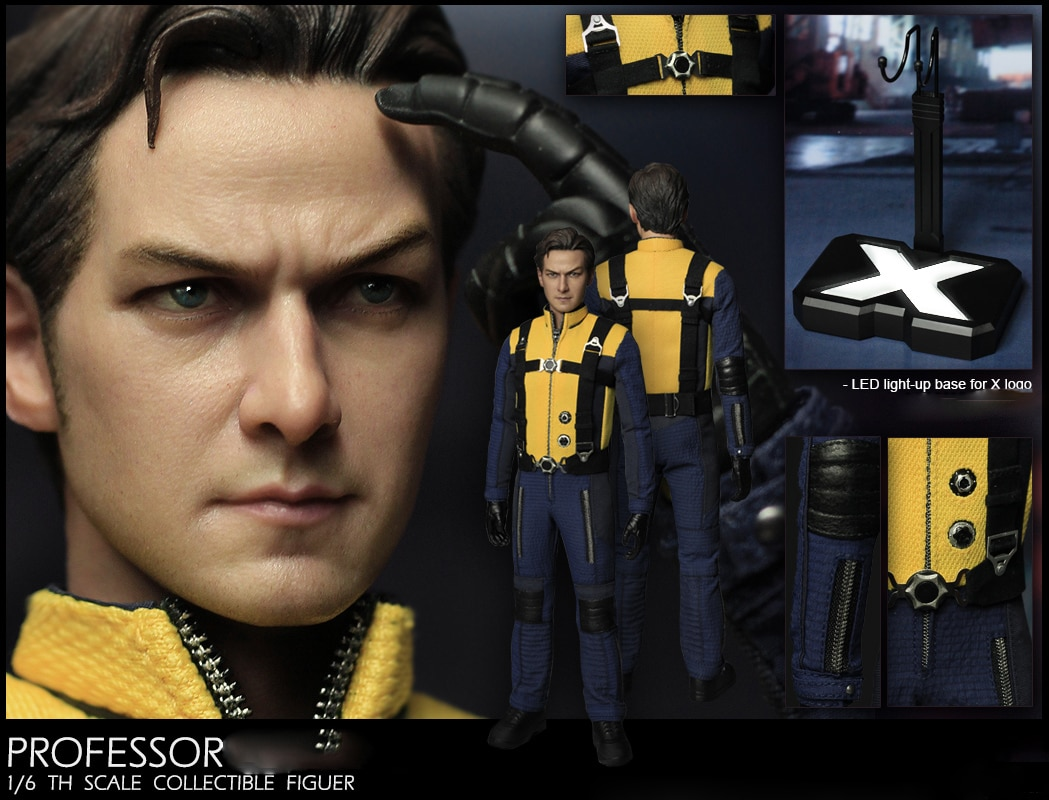 """1/6 Scale Collectible Figurine 12"""" Male Mutant Young Professor Charles James McAvoy Plastic Model Toys Gift"""