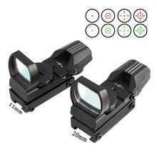 Marotui 11/20mm monture sur Rail lunette de visée optique de chasse holographique point rouge vue Reflex 4 réticule tactique pistolet accessoires