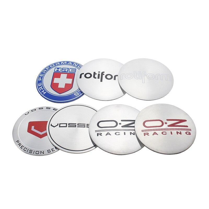 4pcs/lot 56.5MM HRE ROTIFORM Car Racing Emblem VOSSEN OZ Logo Stickers For Auto Wheel HubCaps O.Z RACING Wheel Cover Cap Sticker