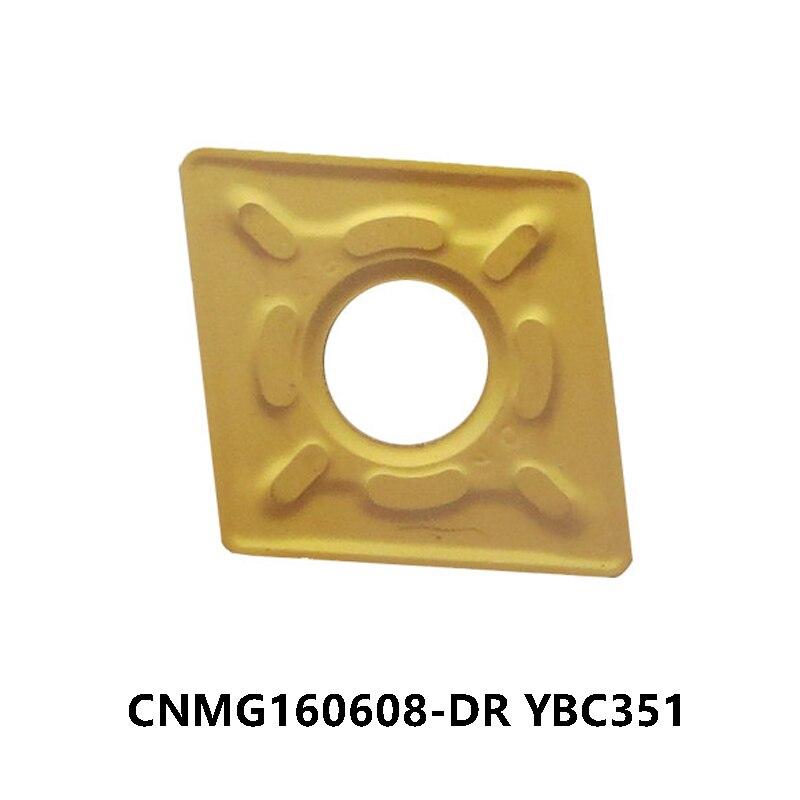 CNMG160608-DR الأصلي YBC351 CNMG 160608 CNMG1606 كربيد إدراج معالجة الصلب تحول أدوات قطع التصنيع باستخدام الحاسب الآلي مخرطة
