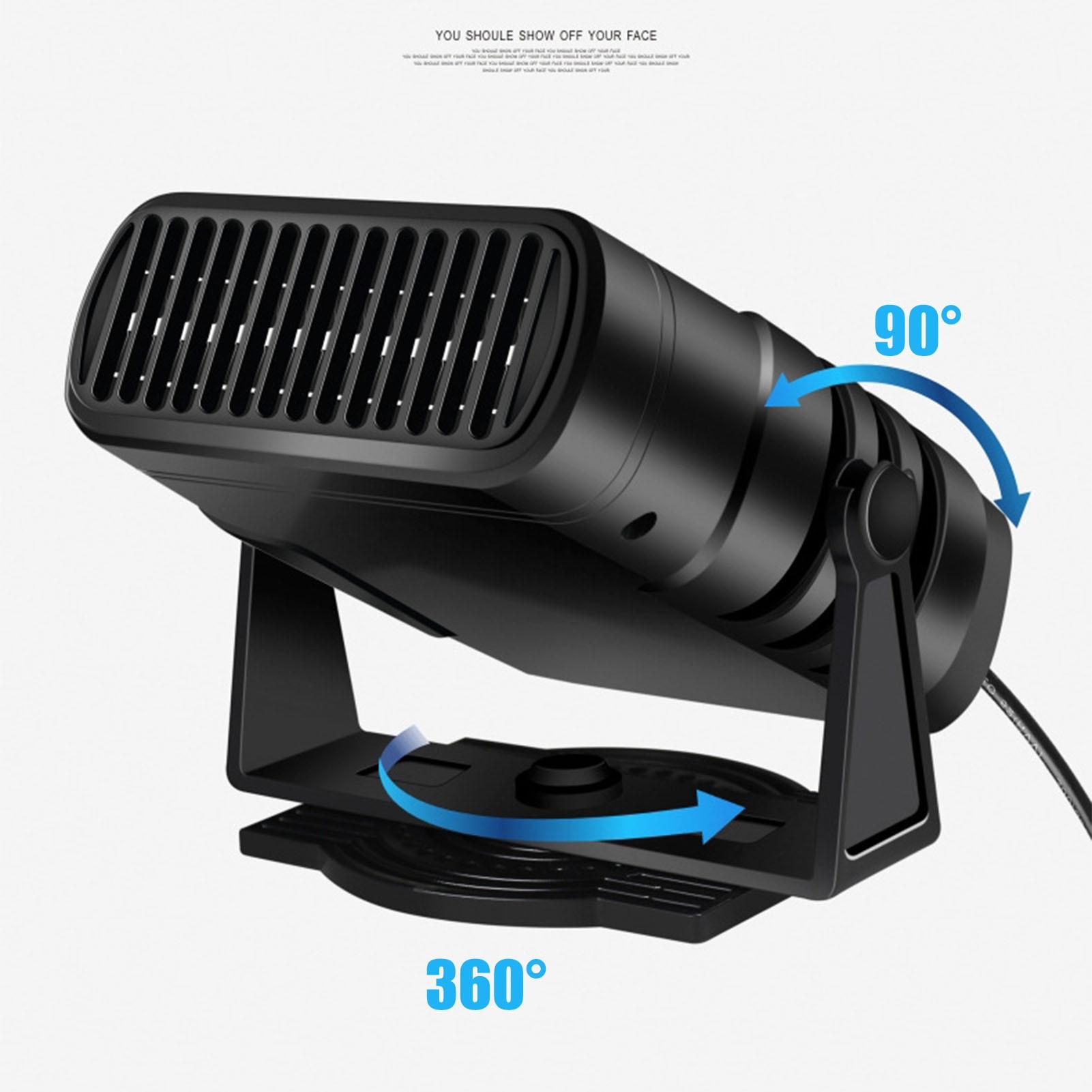 Car Heater 200W 12V 24V 360 Degree Rotation Car Electric Heater Defrosting Snow Defogger Windscreen Demister Defroster
