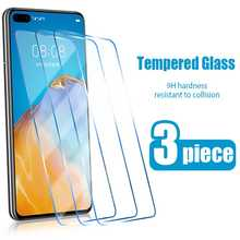 3PCS Screen Protector for Huawei P10 P9 P8 lite 2017 Tempered Glass for Huawei P40 P20 Lite E Pro 2019 P smart Z 2020 P30 glass