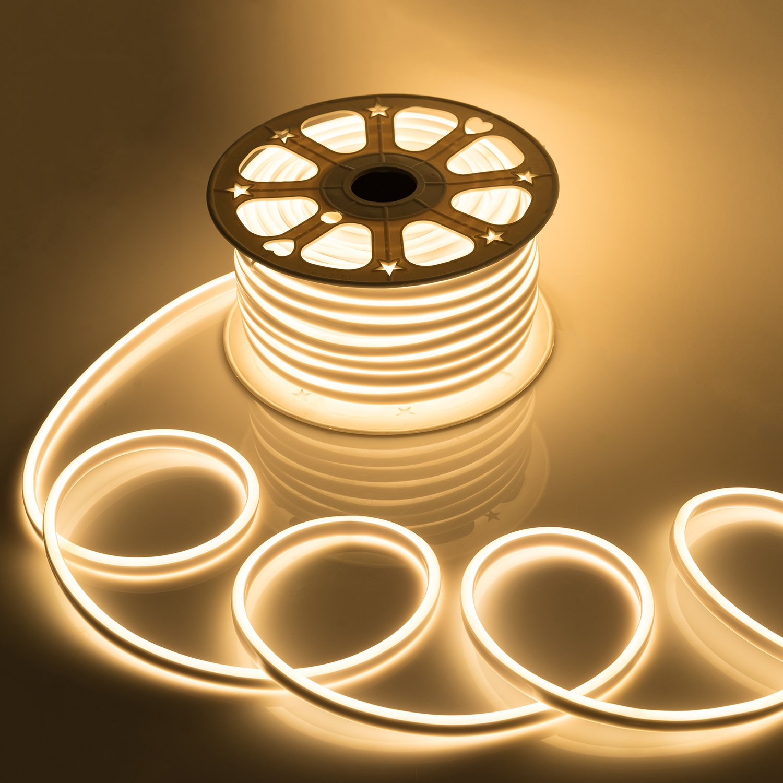AC220V-240V Neon Lights SMD2835 Waterproof Flexible Neon Strip 120LEDs/m Ribbon Rope Tube For Home Decoration LED Strip Light