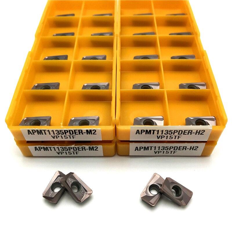 APMT1135 PDER M2/H2 VP15TF Turning Tool Carbide Insert APMT 1135 Face Mill Lathe Milling CNC Tools C