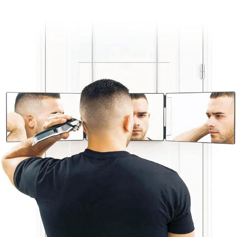 Портативное трехмерное зеркало, зеркало тройного сложения, зеркало для макияжа, зеркало для ванной, зеркала для самостоятельной стрижки и у...