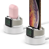 2 in 1 watch charge stand dock for apple watch series iwatch se airpods iphone 12 pro max x xs 8 7 6 charge holder