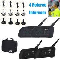 Vnetphone 4 Way Football Referee Intercom Headset V4C V6C 1200M Full Duplex Bluetooth MP3 Headphone Wireless Soccer Interphone