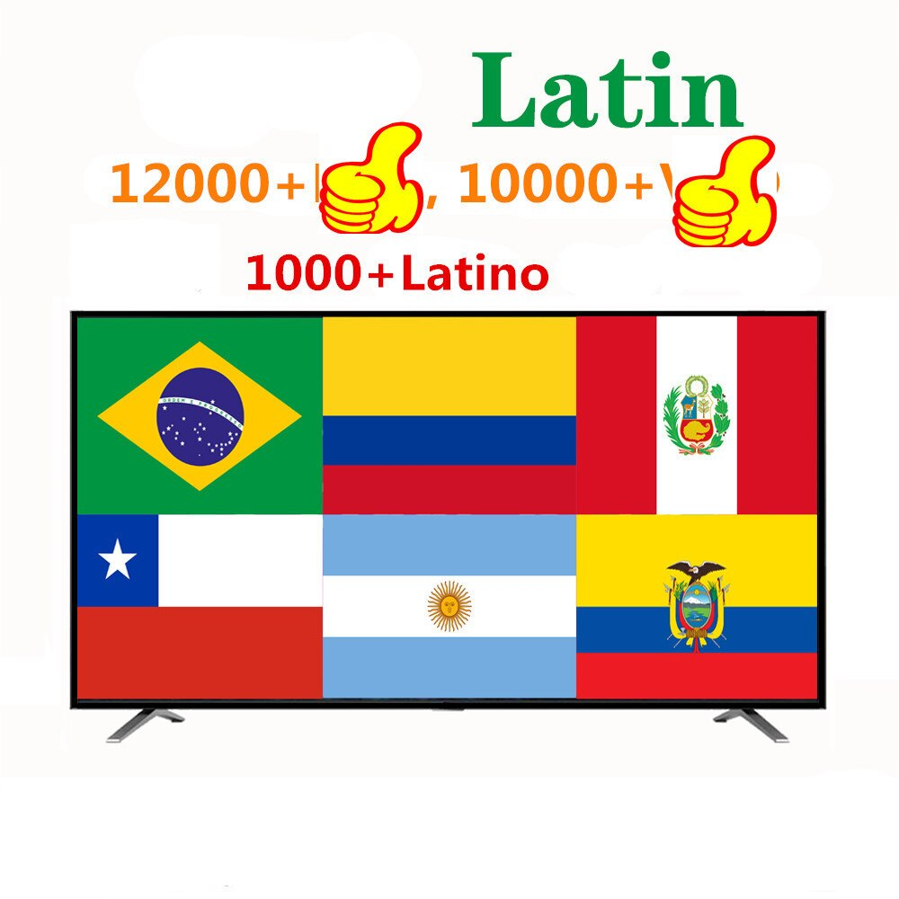 IP Brasil Latino Android tv caja Columbia Latina m3u tv IP Argentina Uruguay Perú Chile para IP Smart TV smarters No APP incluido