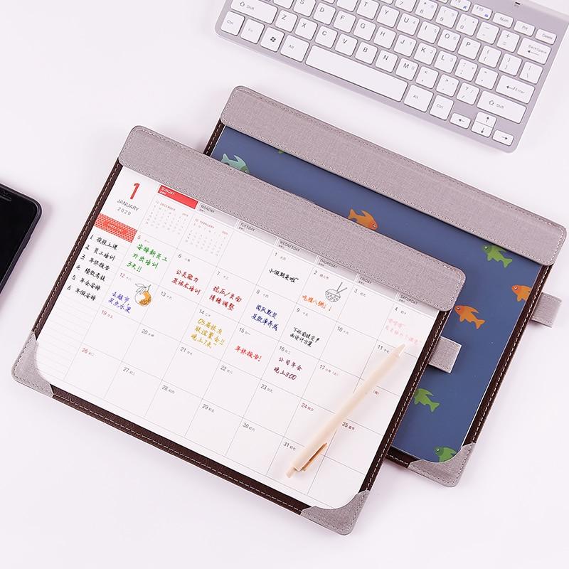 2020-2021 Sharkbang Creatieve Pu Multi-Functionele Kalender Agenda & Desktop Map Muismat Kawaii Kantoorbenodigdheden