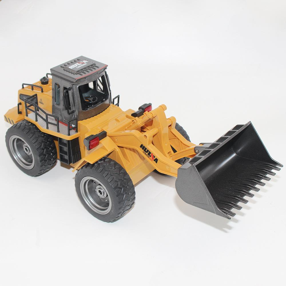 Genuine HuiNa 1520 6CH Channel 1/18 RC Metal Bulldozer Charging Model Remote Control Excavator RC Car Toys Kids Christmas Gifts enlarge